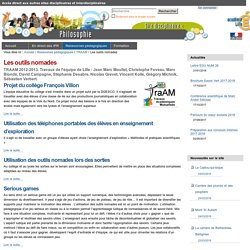 Les outils nomades — SVT Lille