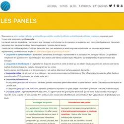 Les panels - Le monde des études