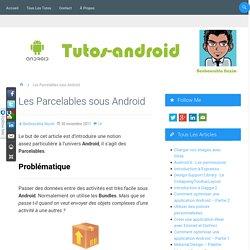 Les Parcelables sous Android