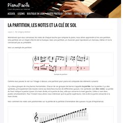 Les partitions et les notes
