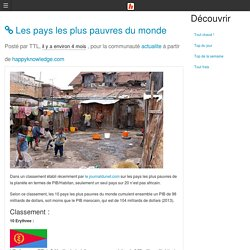 Les pays les plus pauvres du monde