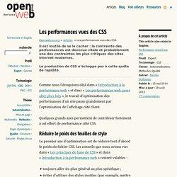Les performances vues des CSS