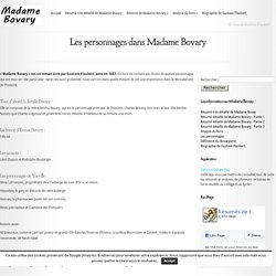 Les personnages dans Madame Bovary - Madame Bovary