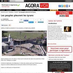 Les peuples pleurent les tyrans
