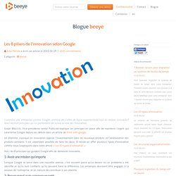 Les 8 piliers de l'innovation selon Google
