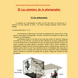 Les pionniers de la photographie