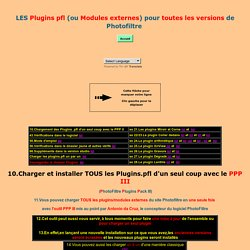 Les Plugins pfl ou Modules externes