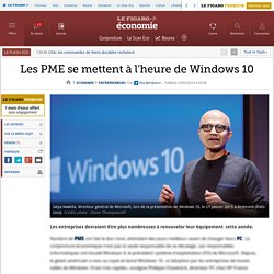 Les PME se mettent à l'heure de Windows10