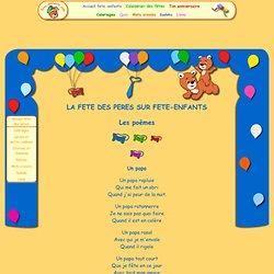 Les poésies pour la fête des pères sur fete-enfants