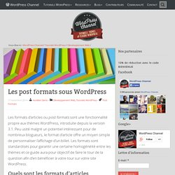 Les post formats sous WordPress