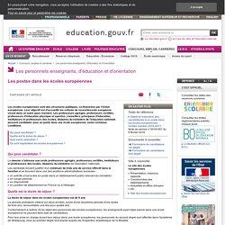 Les postes dans les écoles européennes