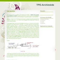 Les poulies - TPE-Archimède