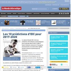 Les 10 prédictions d'IDC pour 2017-2020