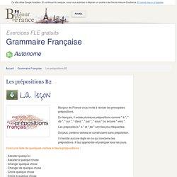 Les prépositions B2 - Autonome