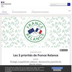 Les 3 priorités de France Relance