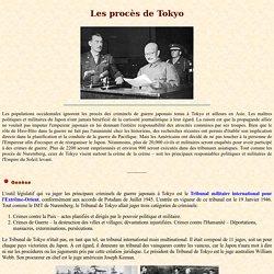 Les procès de Tokyo