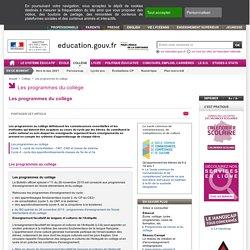 Education.gouv : Les programmes du collège