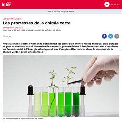 Les promesses de la chimie verte