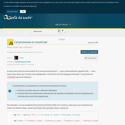 Les promesses en JavaScript