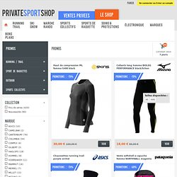 Les promos du « shop » - private sport shop
