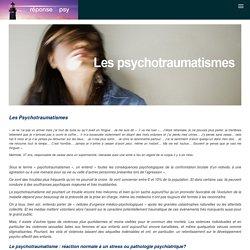 Les psychotraumatismes - La Réponse du Psy