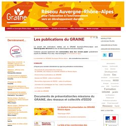 Les publications du GRAINE - Les publications du GRAINE