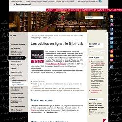 Les publics en ligne : le Bibli-Lab