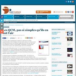 Les QCM, pas si simples qu'ils en ont l'air : Articles : Thot Cu
