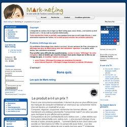 Les quiz de Mark-neting