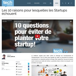 Les 10 raisons pour lesquelles les Startups échouent