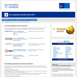 Les randstad awards Paris 2011