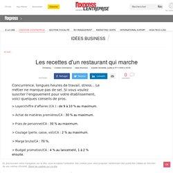 Les recettes d'un restaurant qui marche