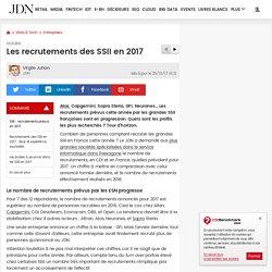 Les recrutements des SSII en 2017