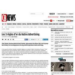 Les 3 règles d'or du Native Advertising