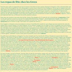 Les repas de fête chez les Grecs