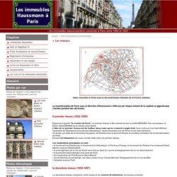 Les immeubles haussmanniens à Paris