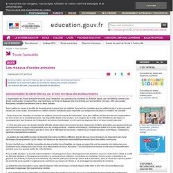Les réseaux d'écoles primaires