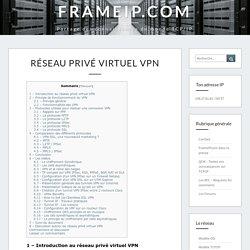 Les R?seaux Priv?s Virtuels - Vpn