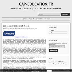 Les réseaux sociaux et l'Ecole