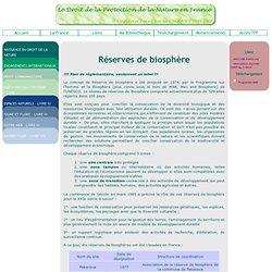 Les réserves de biosphères