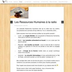Les Ressources Humaines à la radio