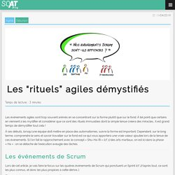 """Les """"rituels"""" agiles démystifiés"""