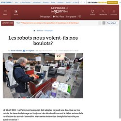 Les robots nous volent-ils nos boulots?