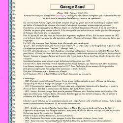 Les romantiques - Georges Sand