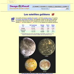 Les satellites galiléens.