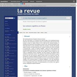 Les sciences cognitives en France