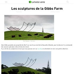 Les sculptures de la Gibbs Farm