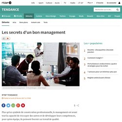 Les secrets d'un bon management
