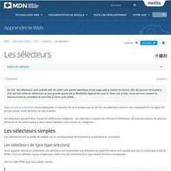 Les sélecteurs HTML