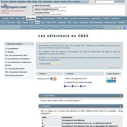 Les sélecteurs en CSS3